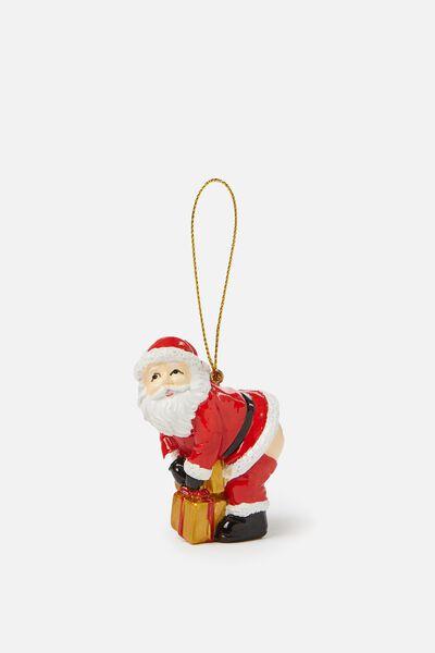 Christmas Ornament, SANTA BUM!