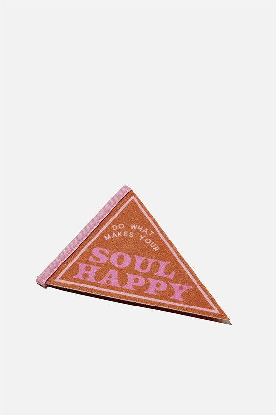 Mini Pennant Flag, SOUL HAPPY