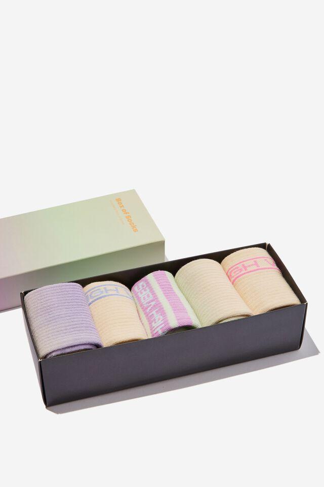 Box Of Socks, HIGH VIBES (S/M)