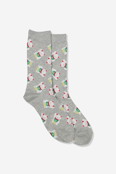 Mens Novelty Socks, LUCKY CAT