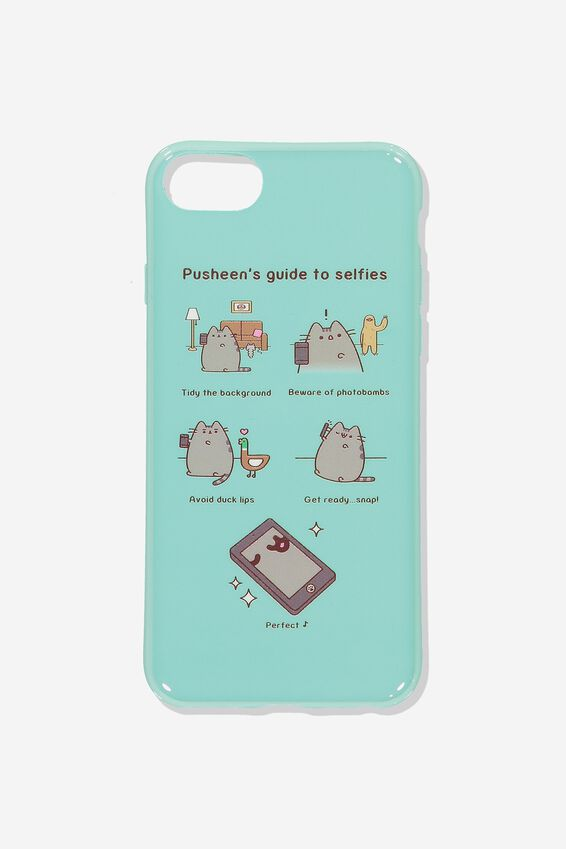 Pusheen Phone Cover Universal 6,7,8, LCN PUSH SELFIES