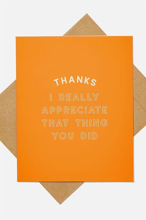 Thank You Card, YOU RE A TOTAL PEACH