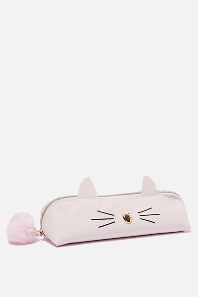 Fancy Face Pencil Case, CAT