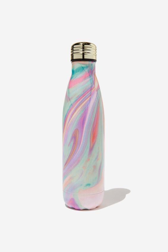 Metal Drink Bottle, RAINBOW MARBLE