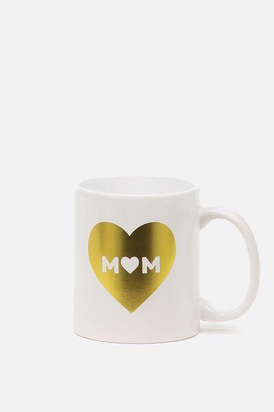 Anytime Mug, GOLD HEART MUM