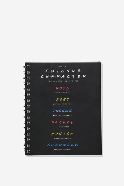 A5 Campus Notebook, LCN WB FRIENDS CHARACTER TYPE