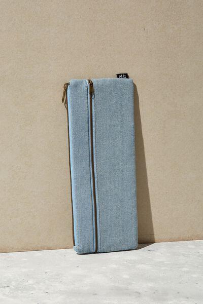Patti Pencil Case, CHAMBRAY