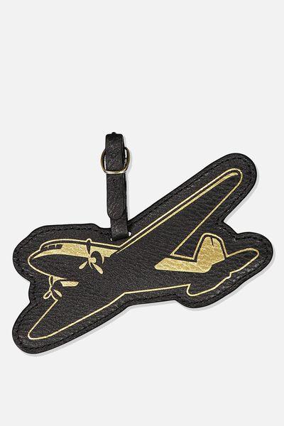 Shape Shifter Luggage Tag, VINTAGE AEROPLANE