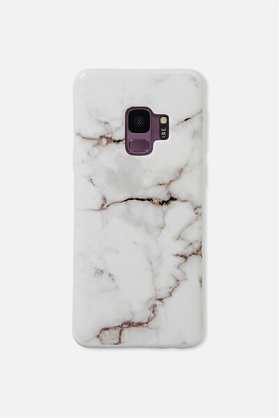 Phone Cover S9, WHITE MARBLE