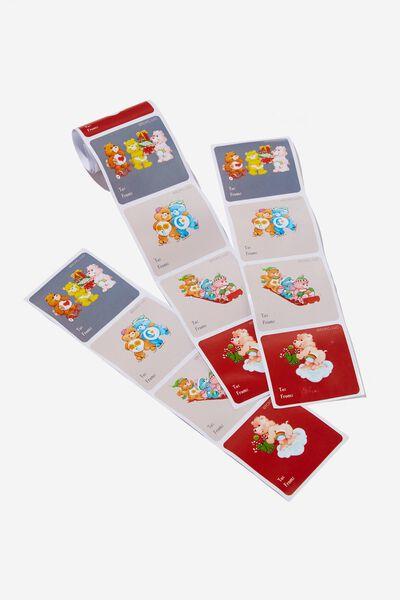 Christmas Sticker Roll, LCN CLC CARE BEARS