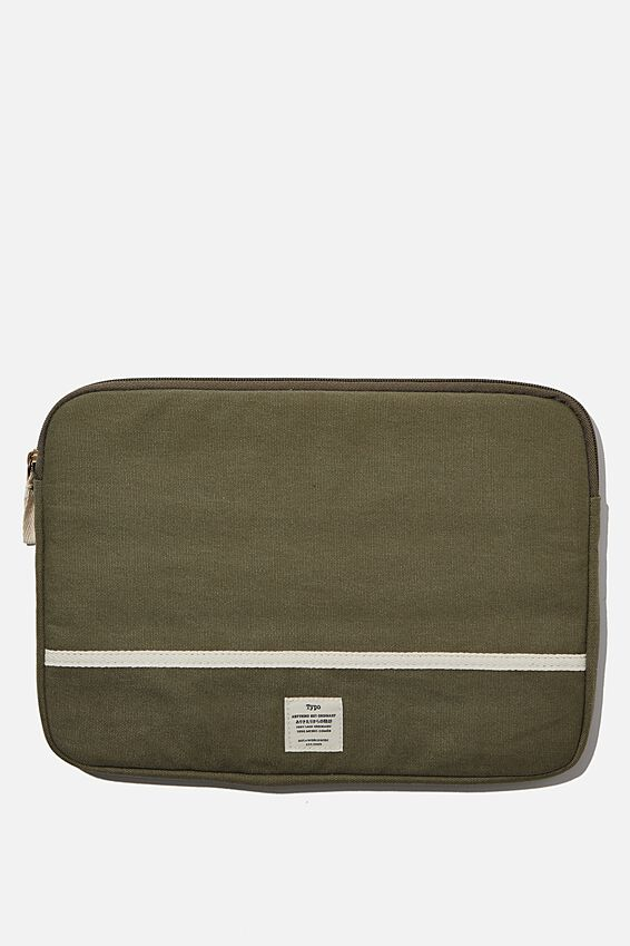 Canvas 13 Inch Laptop Case, WASHED KHAKI