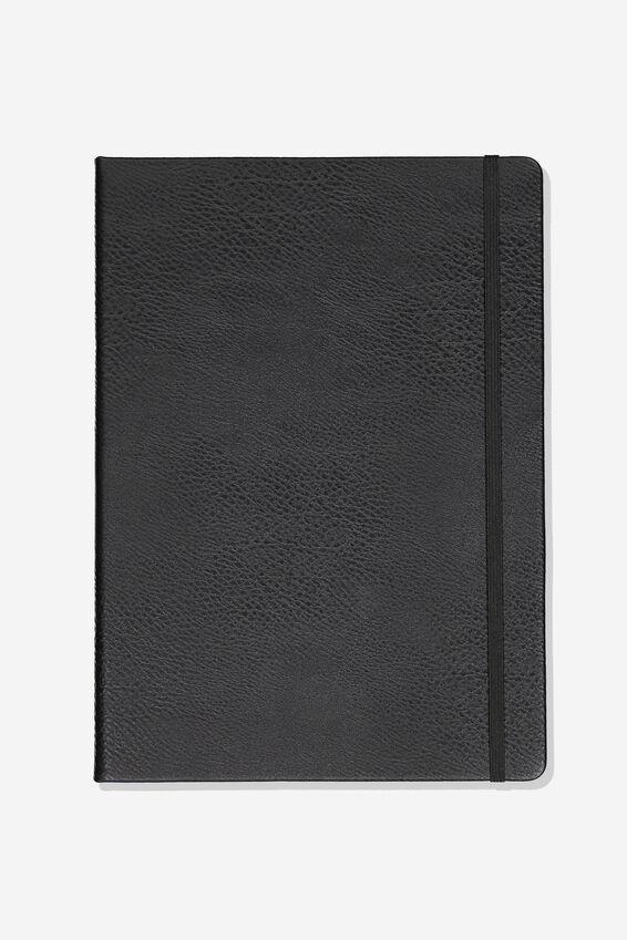 Large Blank Buffalo Journal, BLACK