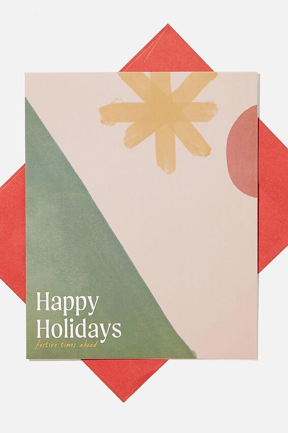 Christmas Card 2020, HAPPY HOLIDAYS ABSTRACT
