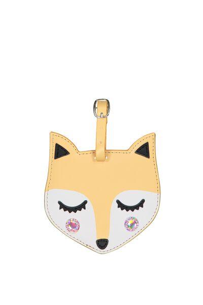 Shape Shifter Luggage Tag, FOX