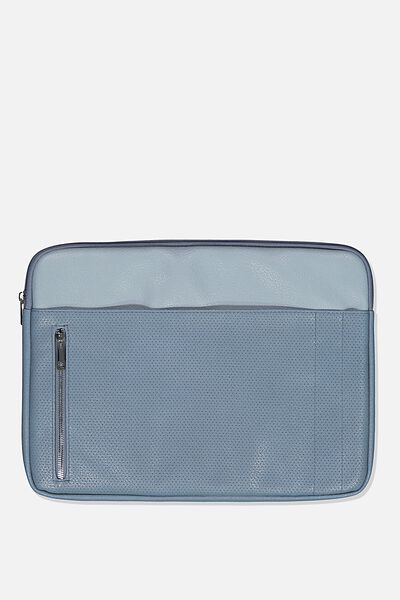 Take Charge 15 Inch Laptop Cover, DUSTY & PETROL BLUE MIX