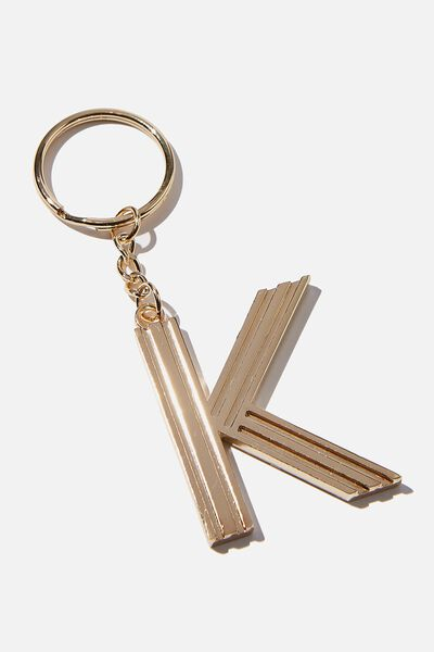 Alphabet Keyring, GOLD GRID K
