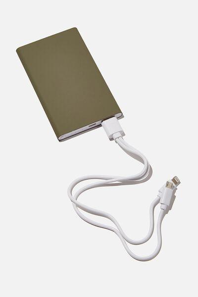 Charge It Power Bank, KHAKI