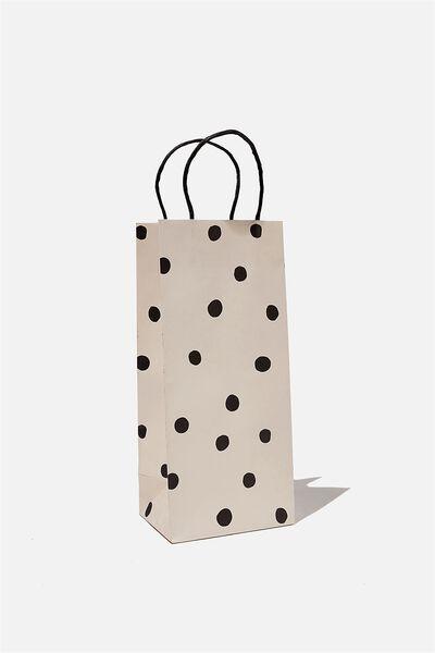 Bottle Gift Bag, OVERSIZED POLKA