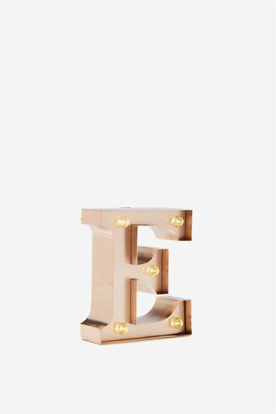 Mini Marquee Letter Lights 10cm, ROSE GOLD E
