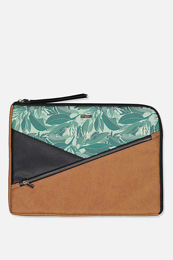 Premium Laptop Case 15 Inch, BONDI FOLIAGE SPLICE