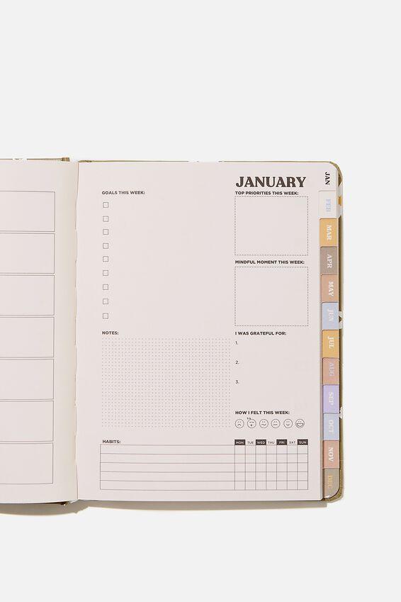 2021 Wellness Planner, DAISY KHAKI