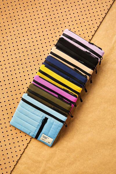 Utility Pencil Case, DENIM BLUE AND MUSTARD