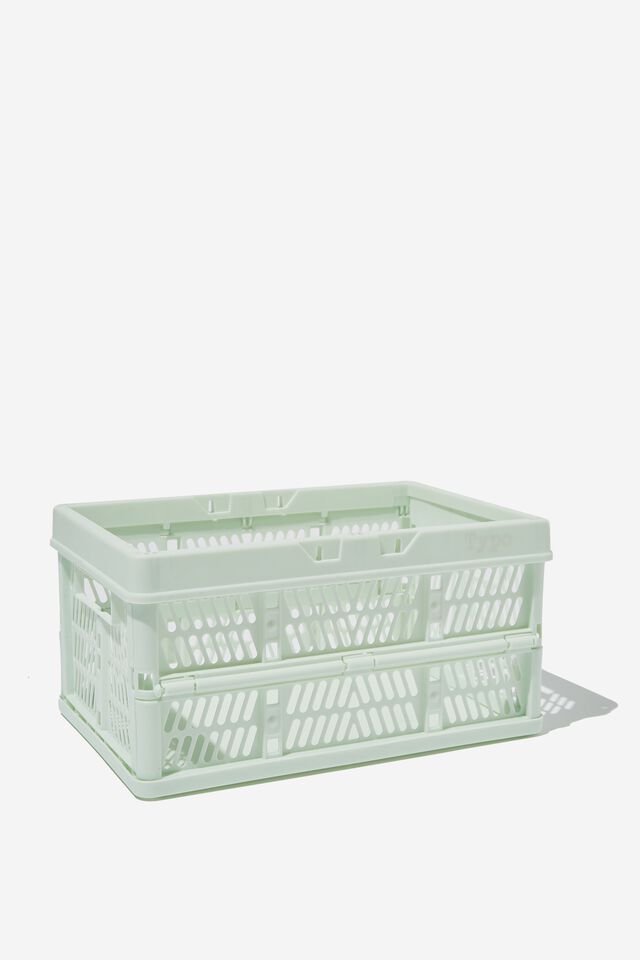 Small Foldable Storage Crate, SPRING MINT