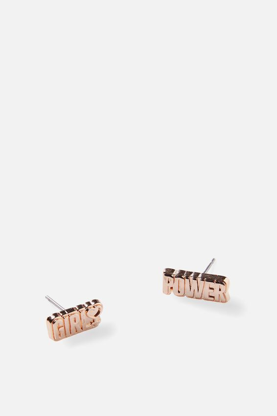 Novelty Earrings, GIRL POWER