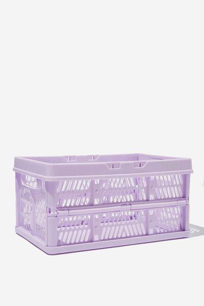 Midi Foldable Storage Crate, PALE LILAC