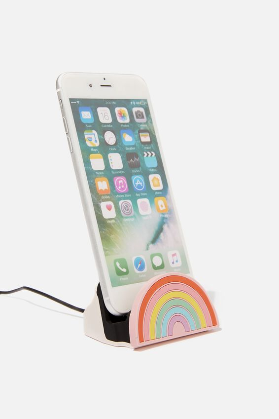 Novelty Phone Docking Station, RAINBOW