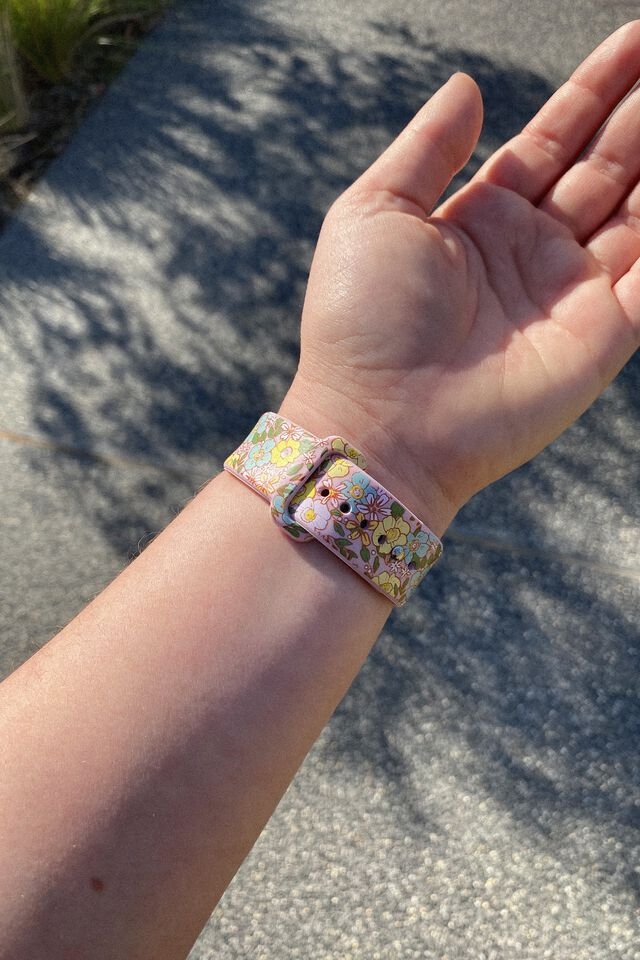 Strapped Watch Strap, DITSY FLORAL SAND
