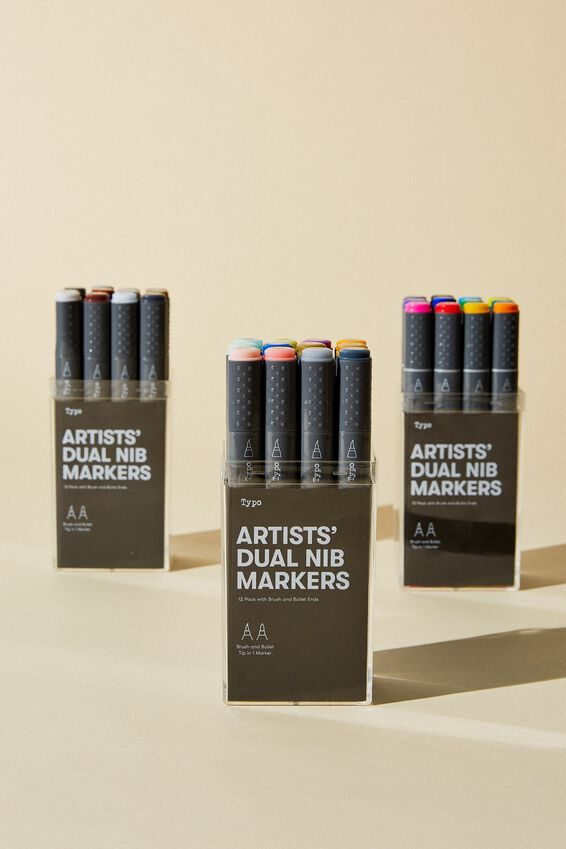 Artists Dual Nib Marker 12Pk, PASTEL BRUSH