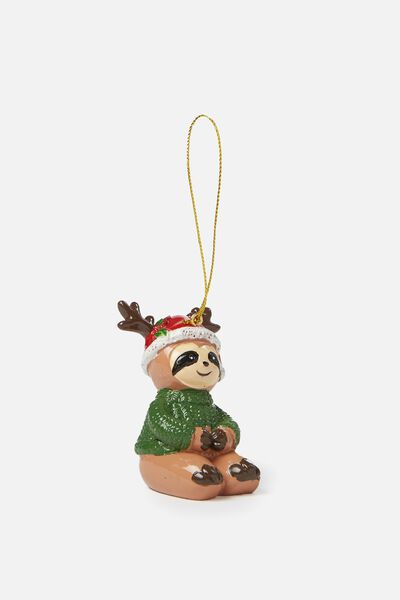 Christmas Ornament, SANTA SLOTH