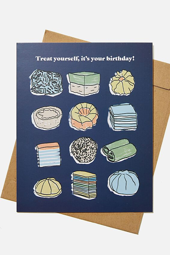 Funny Birthday Card, RG ASIA ALL I WANT FOOD