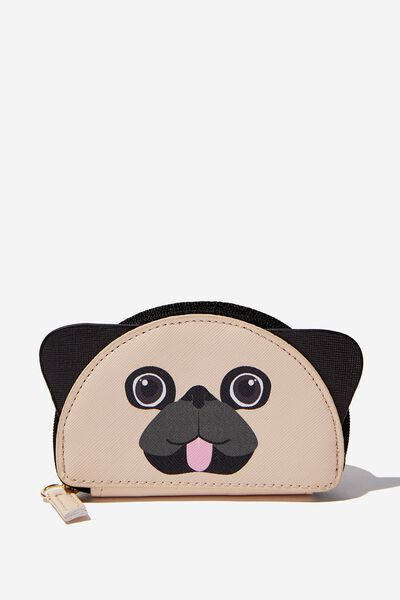 Novelty Coin Purse, PUG FACE