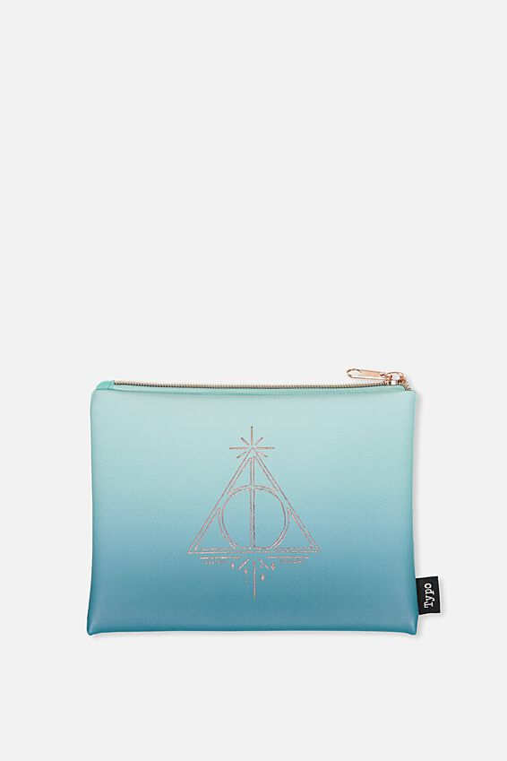 Pu Campus Pencil Case, LCN HP DEATHLY HALLOWS