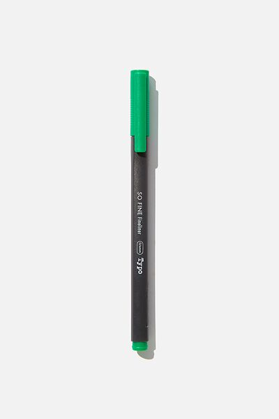 So Fine Fineliner Pen, DARK GREEN