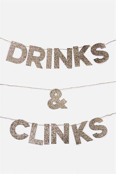 Quote Bunting, DRINKS & CLINKS