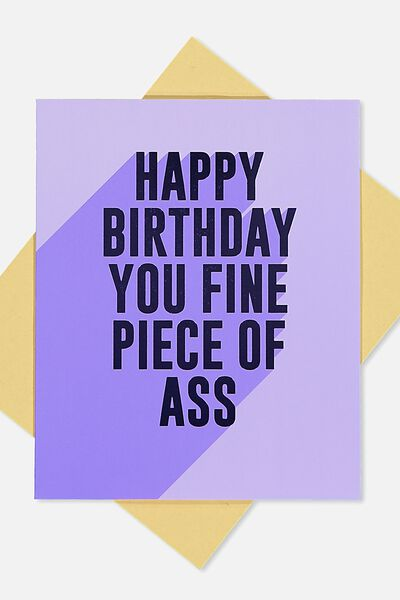 Blank cards blank greeting cards cotton on funny birthday card fine piece of ass m4hsunfo