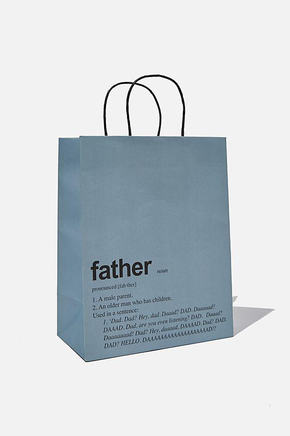 Get Stuffed Gift Bag - Medium, FATHER DEFINITION NOUN