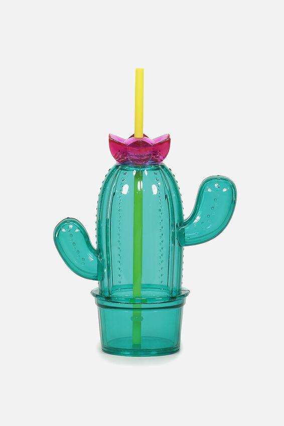 Cactus Drink Bottle, GREEN