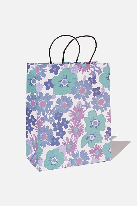 Get Stuffed Gift Bag - Medium, BLUE STEVIE FLORAL