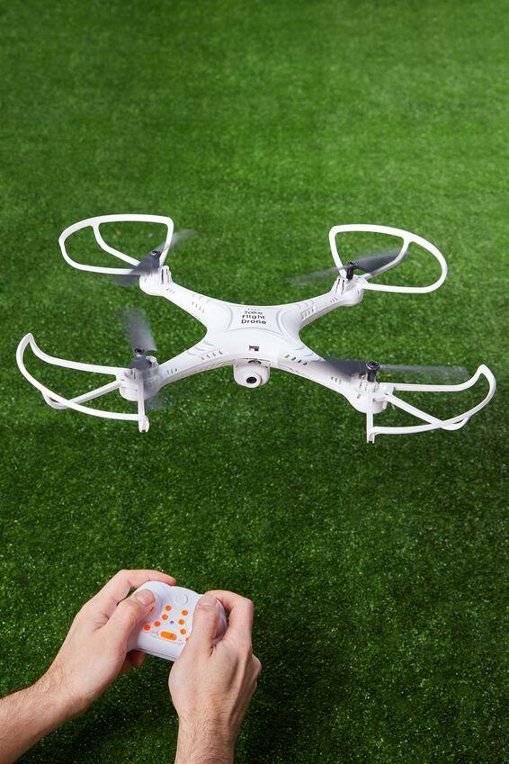 Take Flight Drone, WHITE