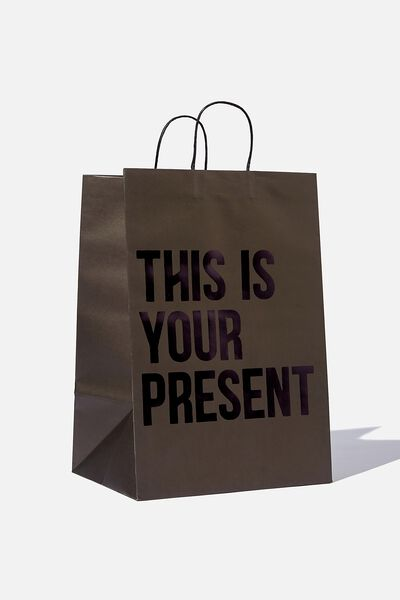 Get Stuffed Gift Bag - Large, THIS IS YOUR PRESENT BLACK