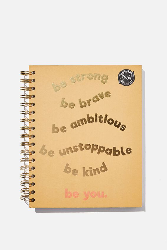 Ultimate Spiral Notebook, BE YOU
