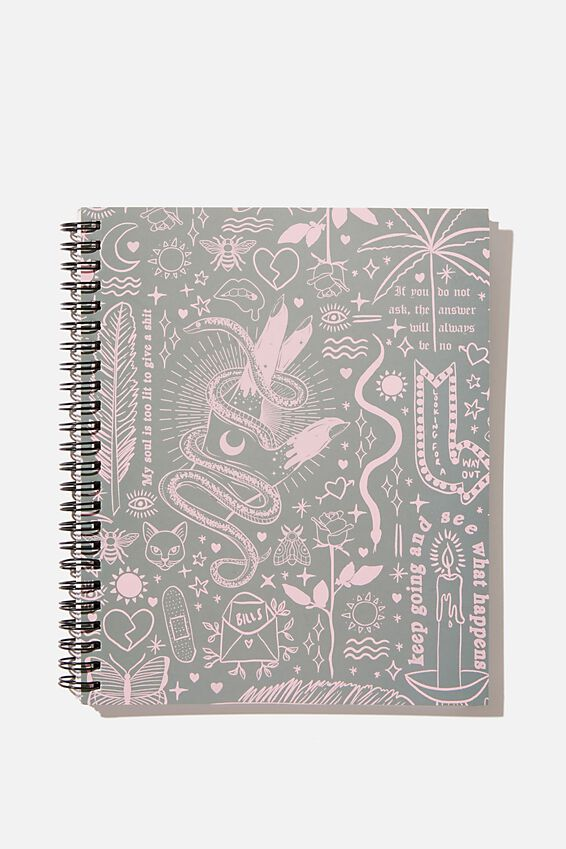 "A5 Campus Notebook-V (8.27"" x 5.83""), KEEP GOING"