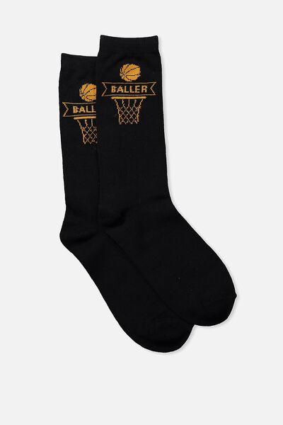 Mens Novelty Socks, BALLER
