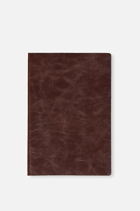 Medium Soft Cover Buffalo Journal - 176 Pages, RICH TAN