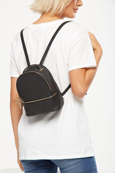 Mini Fashion Backpack, BLACK