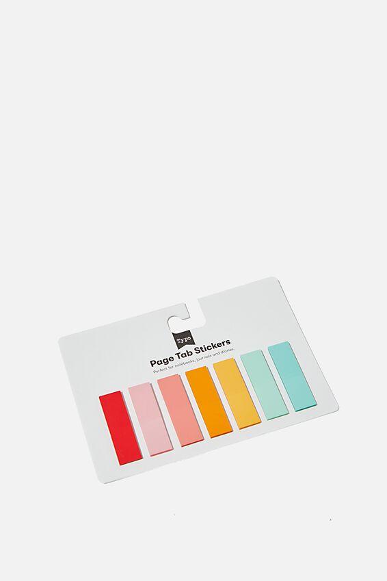 Page Tab Stickers, RAINBOW